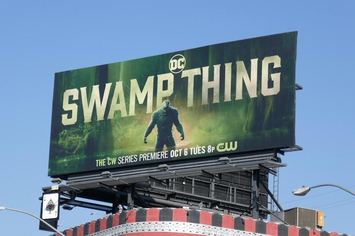 Swamp Thing CW premiere billboard