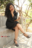 Telugu Actress Pavani Latest Pos in Black Short Dress at Smile Pictures Production No 1 Movie Opening  0191.JPG