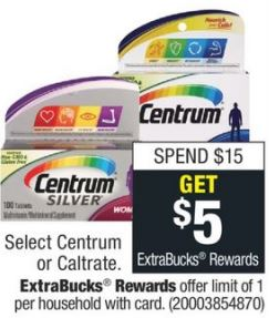 FREE Centrum Vitamins at CVS 9-13-9-19