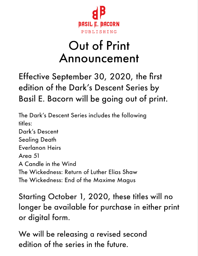 Dark's Descent Out of Print Announcement