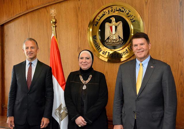نيفين جامع: اهتمام كبير من القيادة السياسية في البلدين بتحقيق نقلة نوعية في مستوى العلاقات الاقتصادية المشتركة لزيادة معدلات التجارة البينية والاستثمارات الامريكية في مصر