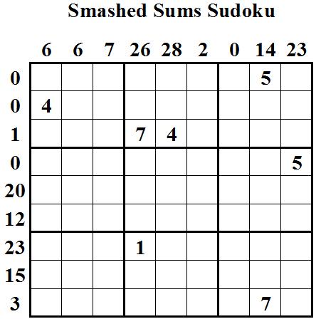 Smashed Sums Sudoku (Daily Sudoku League #20)