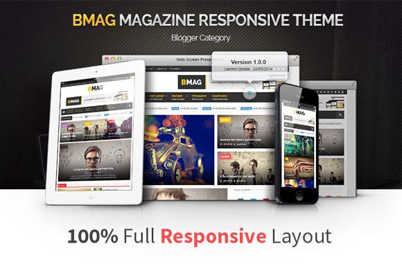 BMAG - Magazine Responsive Blogger Premium Template
