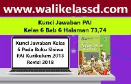 Kunci Jawaban PAI Kelas 6 Bab 6 Halaman 73-74