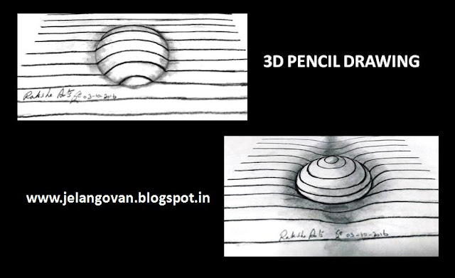 PENCIL DRAWING - 3D DRAWING
