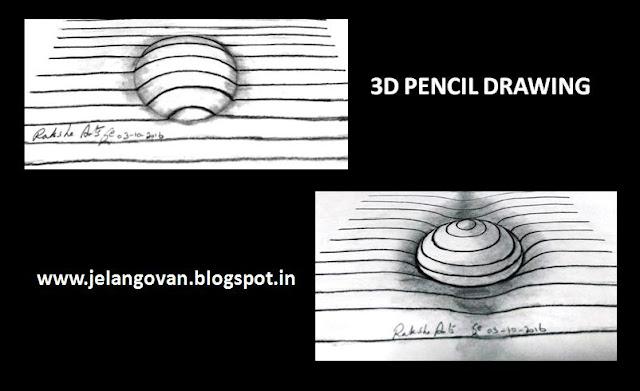 PENCIL DRAWING - 3D DRAWING