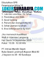 Walk In Interview di PT. Intrias Mandiri Sejati Surabaya September 2020