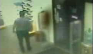 Ghostly Figure Moving Inside a Store