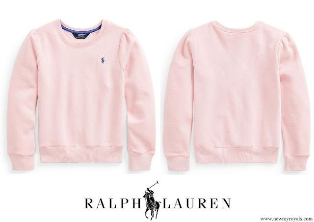 Princess Charlotte wore Polo Ralph Lauren Cotton blend fleece Sweatshirt