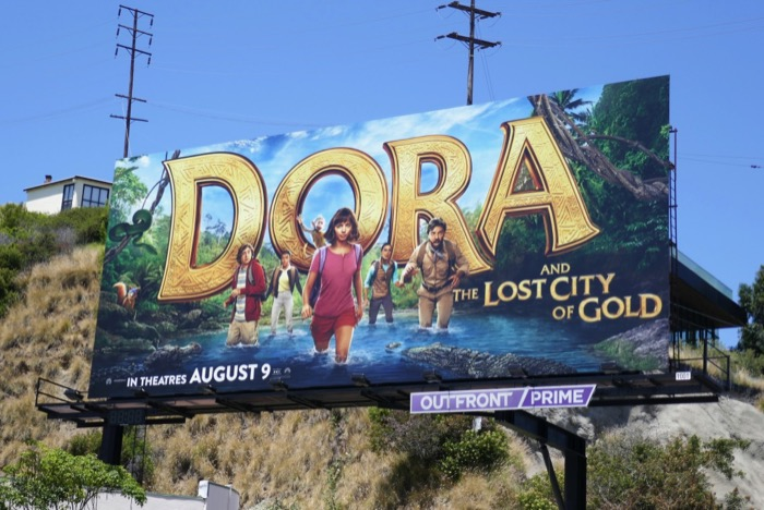 Dora and Lost City of Gold movie billboard