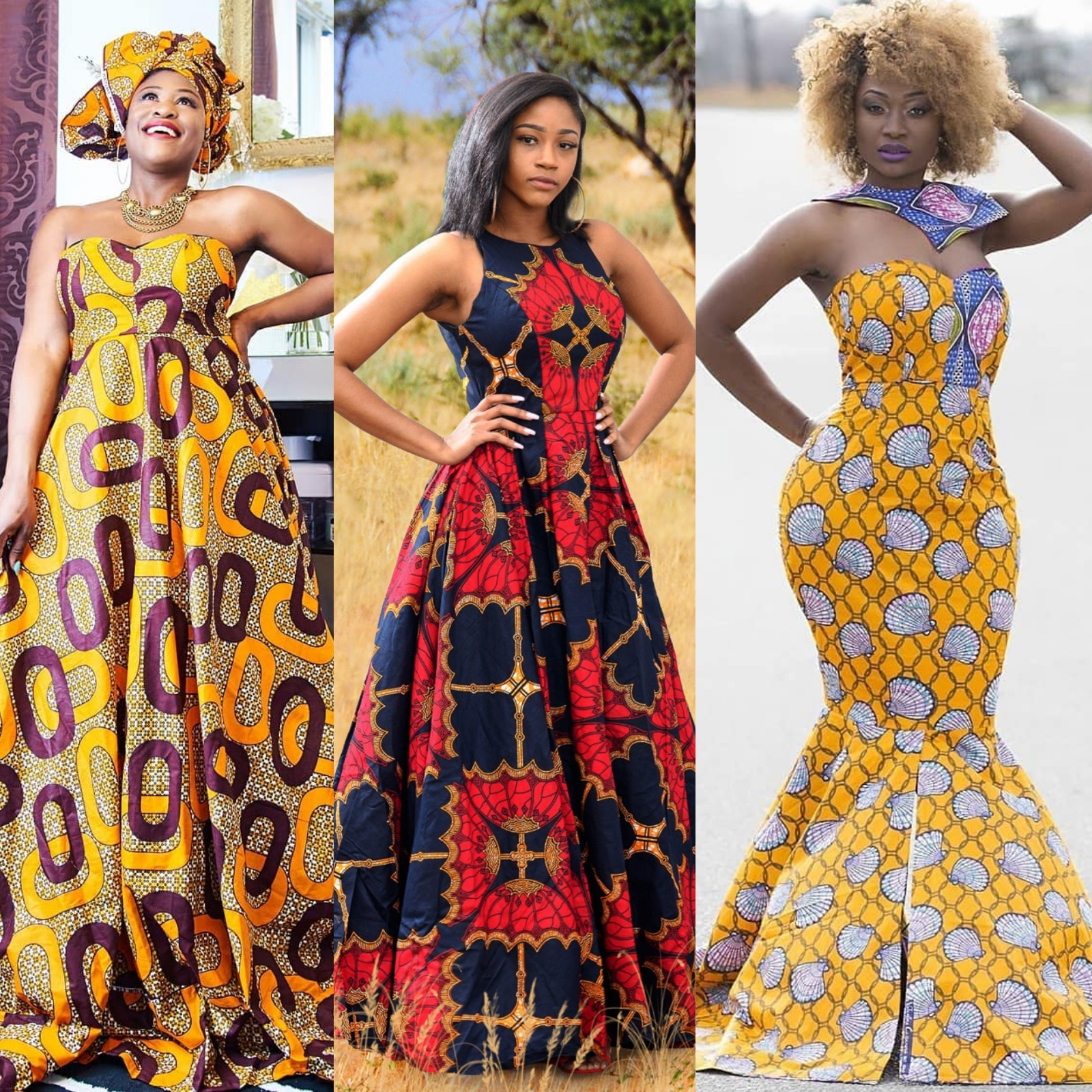 Beautiful Ankara long dresses styles in Africa | fashenista