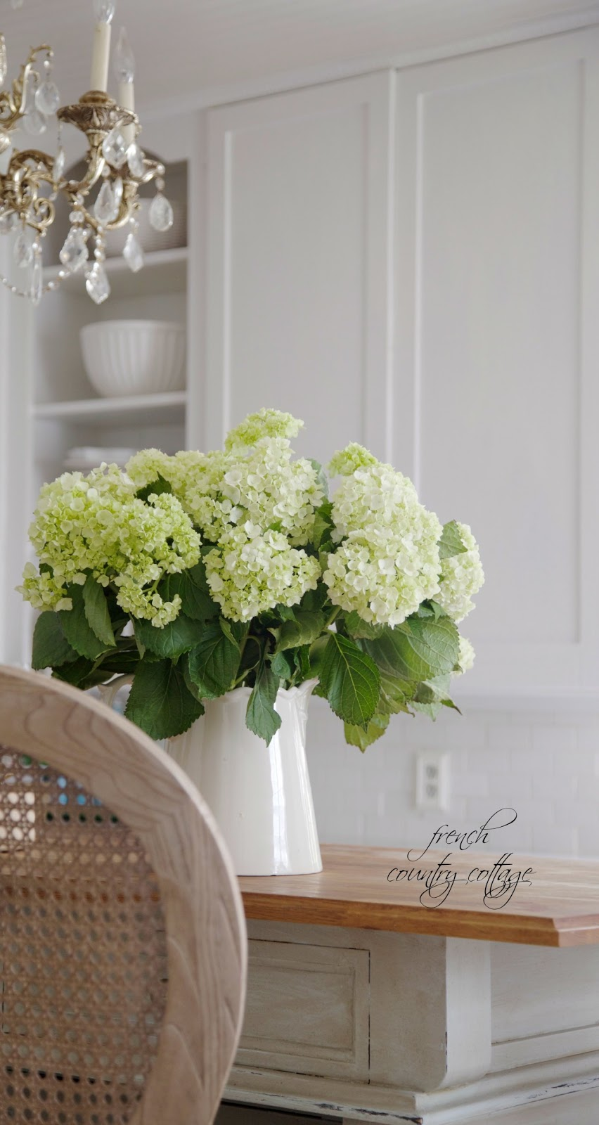 hydrangeas, fresh, kitchen, Alum