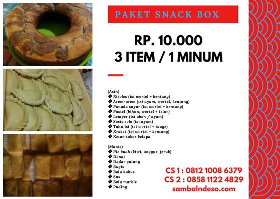 harga snack box di Serpong
