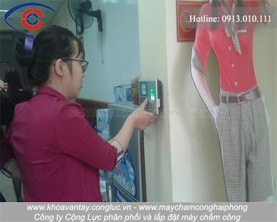 Hoàn thành lắp đặt máy chấm công Ronald Jack DG-600 tại công ty Sao Hải Phòng (HP Startour), Trần Phú, Hải Phòng.