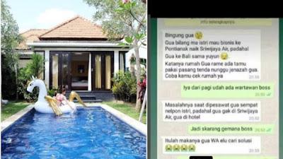 Ngaku Ke Pontianak Naik Sriwijaya Air, Ternyata Ke Bali Sama Selingkuhan, Sekarang Bingung Mau Pulang ke Rumah