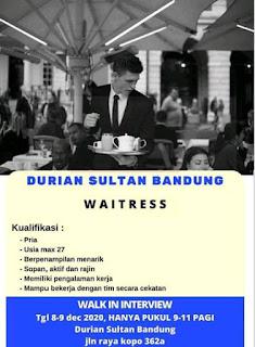 Lowongan Kerja Durian Sultan Bandung