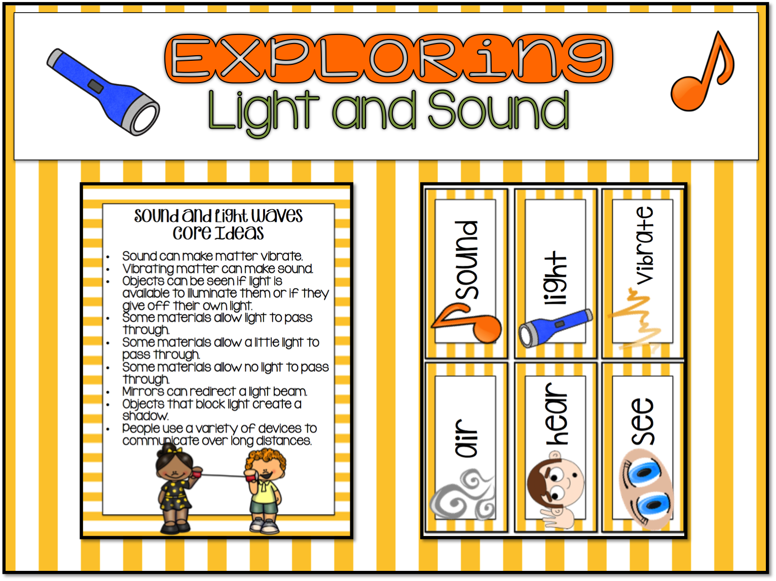 1st Grade Hip Hip Hooray Ngss Light And Sound Waves