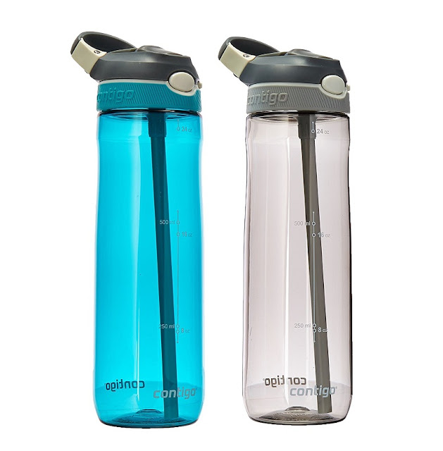 Amazon: TWO Contigo 24oz Autospout Straw Ashland Water Bottles for only $13 - just $6.50 each!