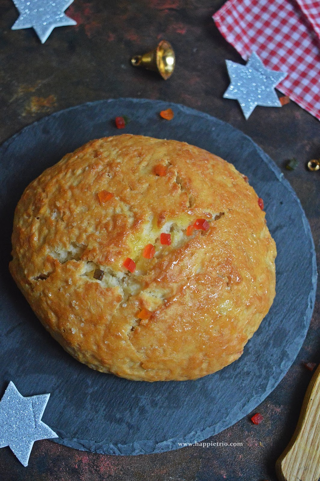 Christmas Bread Recipe | Easy Tutti Futti Christmas Bread