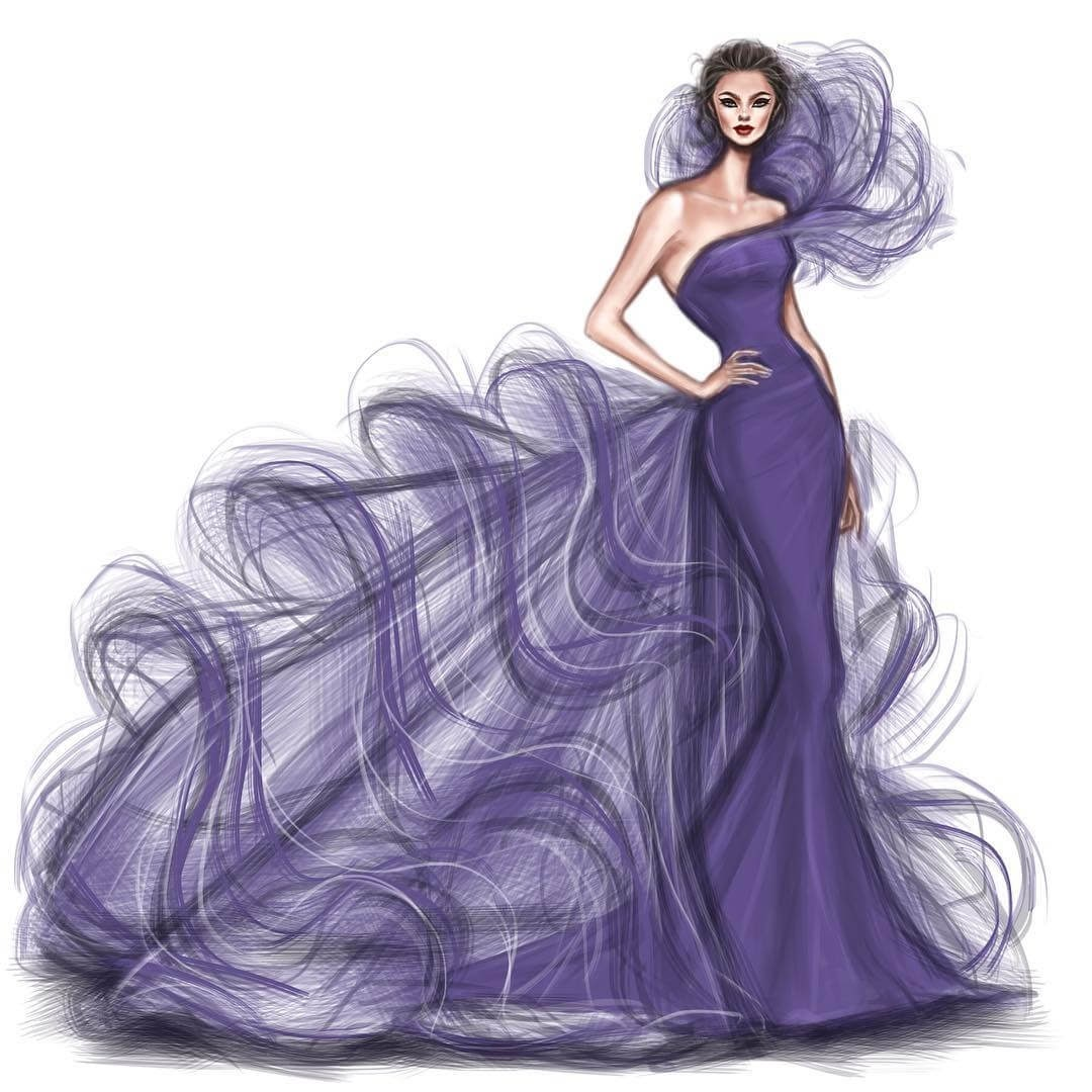 11-Ultra-Violet-Shamekh-Bluwi-Haute-Couture-Exquisite-Fashion-Drawings-www-designstack-co