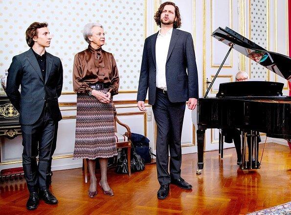 The grants were awarded to opera singer Nicolai Elsberg and ballet dancer Tobias Praetorius. Honorary Scholarship