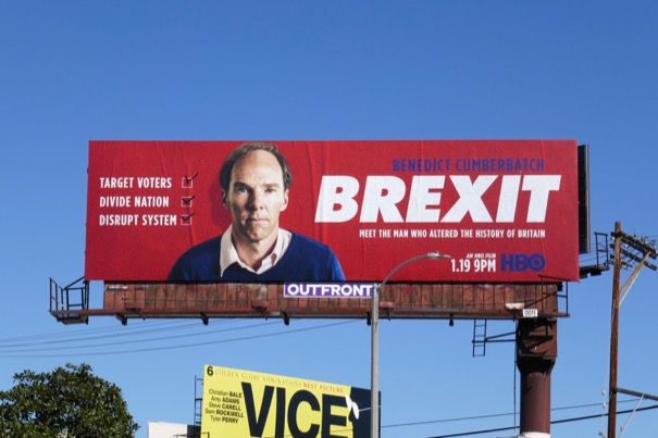 Benedict Cumberbatch Brexit film billboard