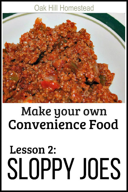 You CAN put a delicious homemade meal on the dinner table in a hurry! Make these delicious sloppy joes from scratch in the crockpot OR on the stove-top. Learn how to turn sloppy joes into convenience food. #dinner #fromscratch #convenience food