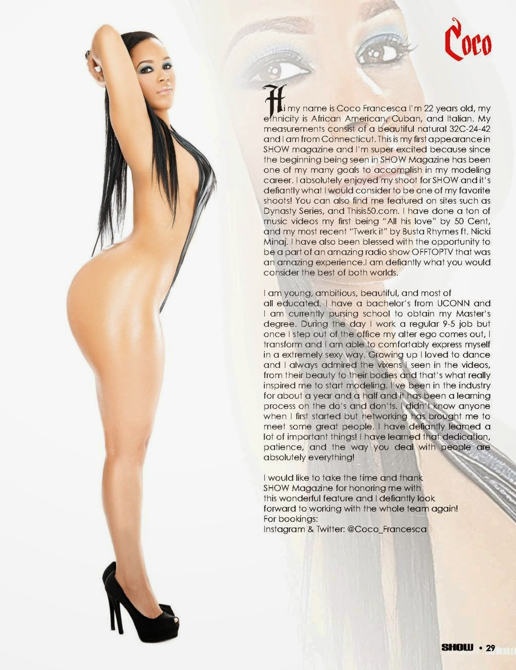 Black nuded the show magazine girls images — pic 4