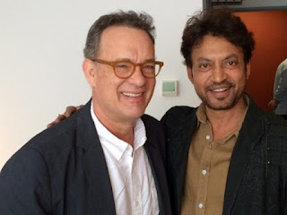 Irrfan Khan with Tom Hanks on sets of INFERNO