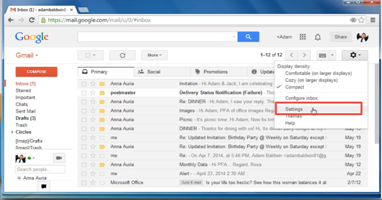 gmail message not showing up in inbox, [ FIXED ISSUE