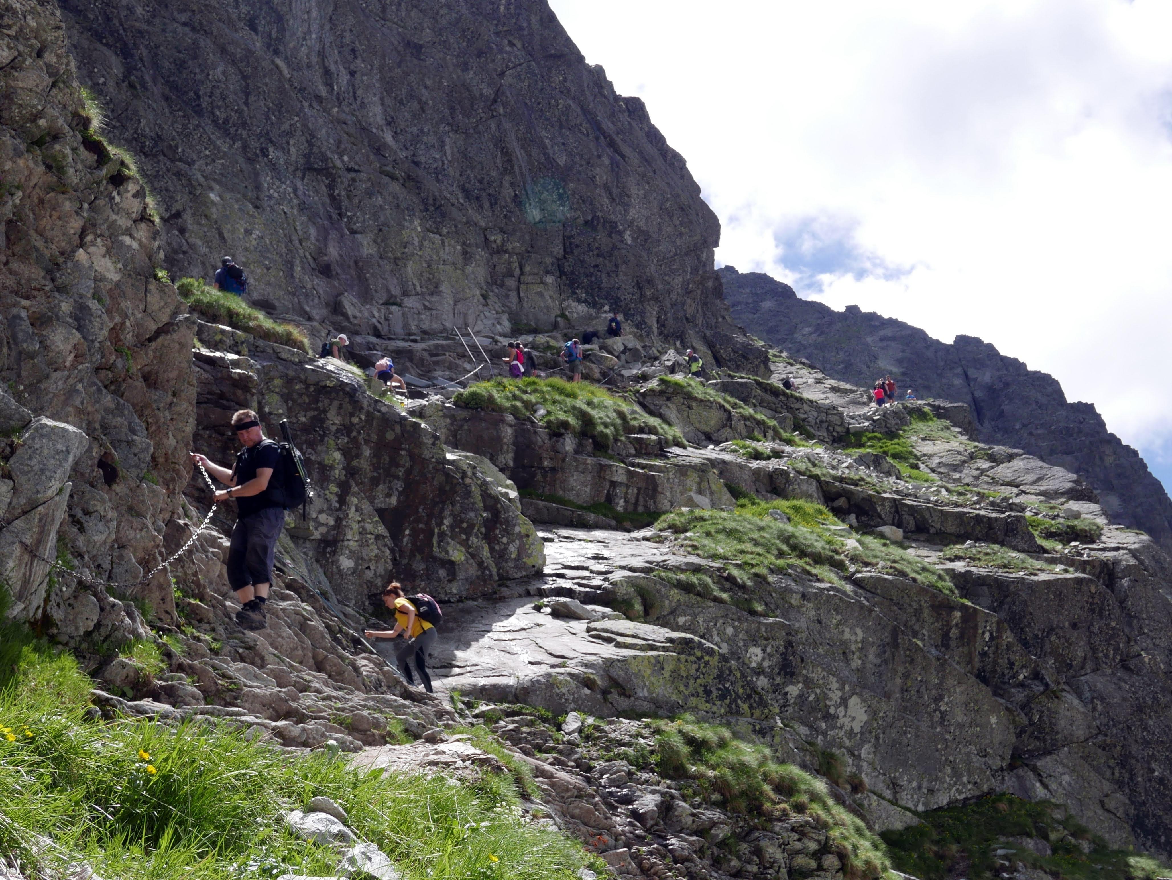 Słowacja, Tatry: szlak na Rysy łańcuchy