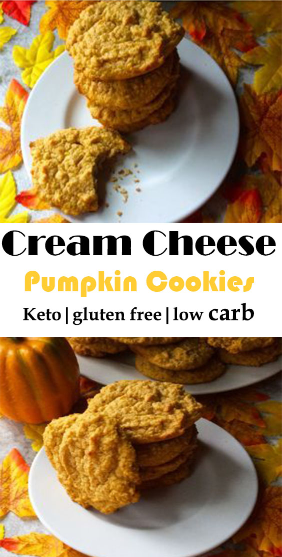 Keto Pumpkin Cream Cheese Cookies