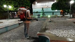 Prefeitura de Baraúna faz desinfecção de locais públicos para prevenir à Covid-19