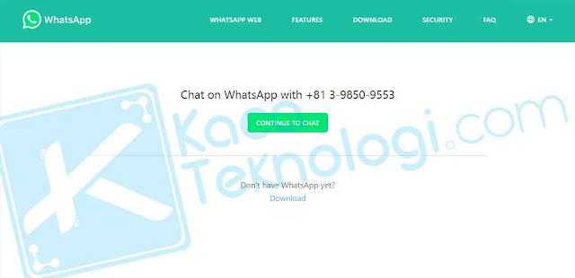 Cara mudah membuat QR Code Whatsapp