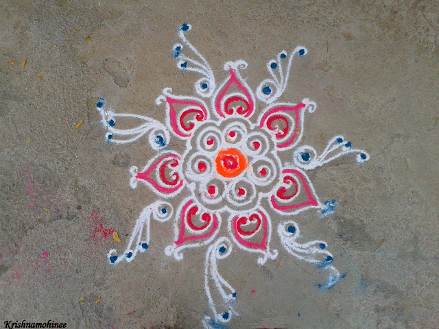 Image: Rangoli with less colors still beautiful