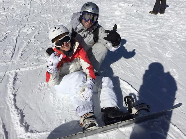 Marta Tristan junto a su chico en Sierra Nevada