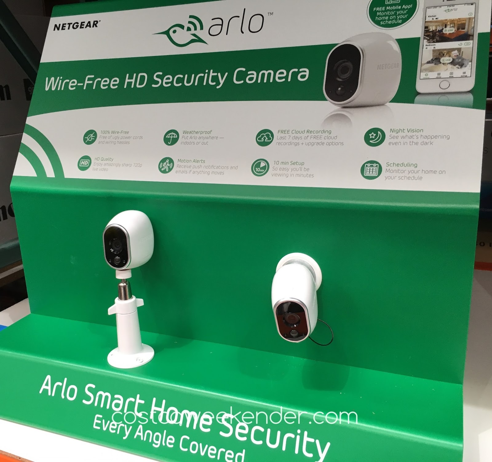 Camera Surveillance Exterieur Costco Netgear Arlo Vms3230c Wire Free Security Cameras Costco