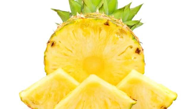 Ilustrasi nanas. (Sumber: Shutterstock)