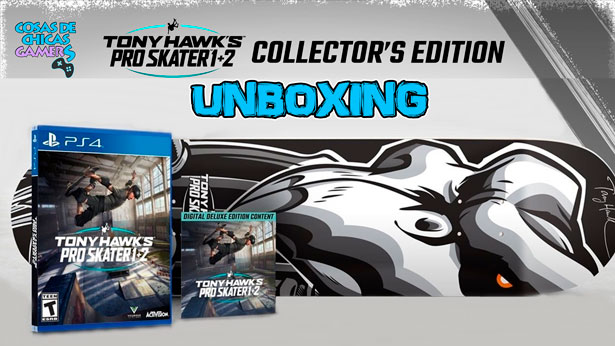Unboxing-Tony-Hawk---Edición-coleccionista-en-PS4