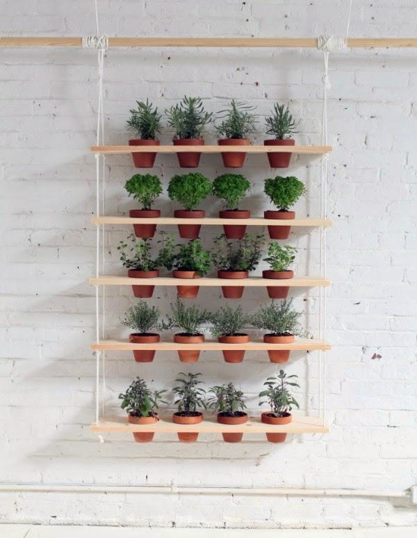 estanter as colgantes para cultivar muchas plantas en poco