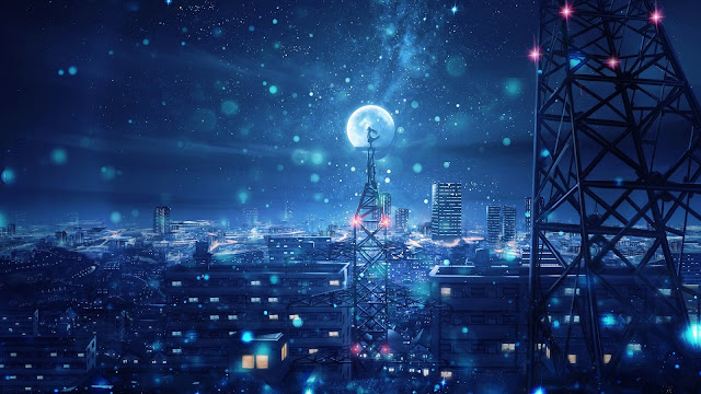 anime aesthetic background