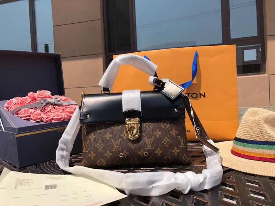 LOUIS VUITTON LV Monogram One Handle Flap Bag MM Leather Handbag 🎁 Paper  Box M43125 bb29212a496b9