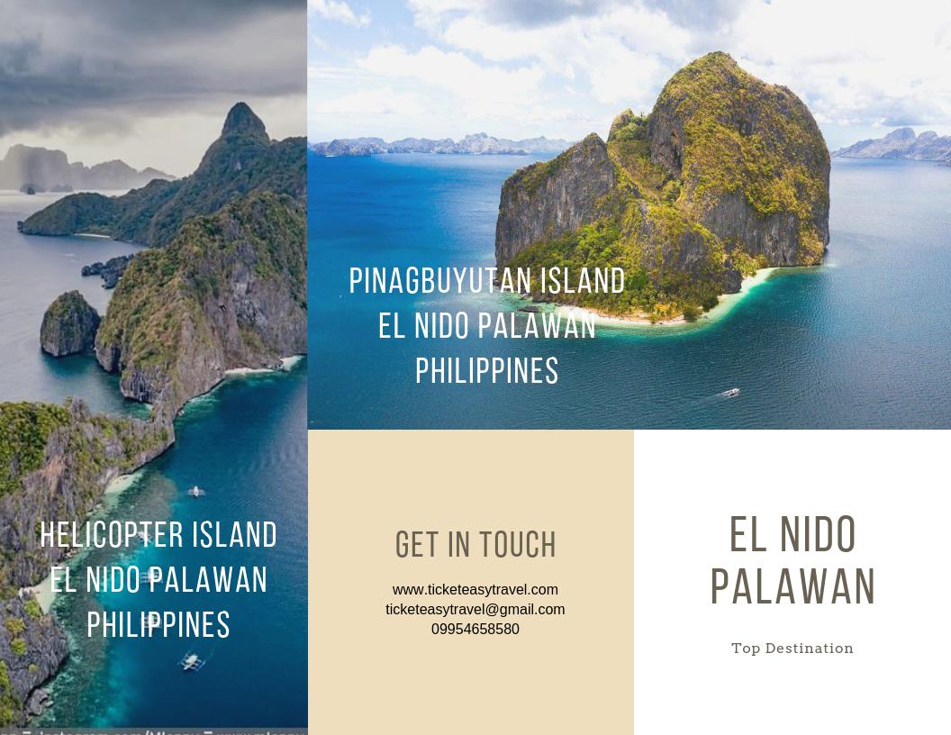 Pinagbuyatan Island and Helicopter Island El Nido Palawan