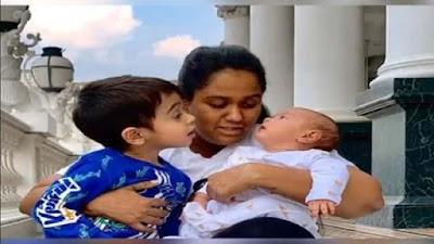 Salman Khan Sister Arpita Khan Sharma Poses With Kids Aahil And Aayat Photos Viral