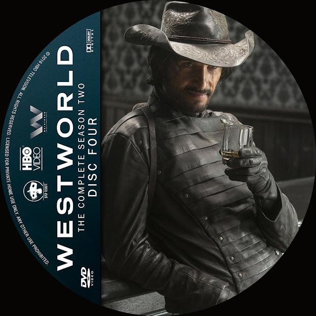 Label DVD Westworld Primeira Temporada Disco 4