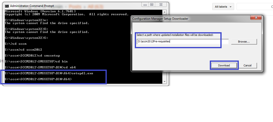 Pre-downloading the Prerequisite files for SCCM 2012