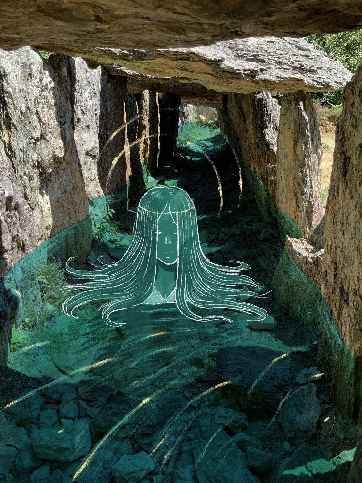 Saint-Just megaliths faerie illustration