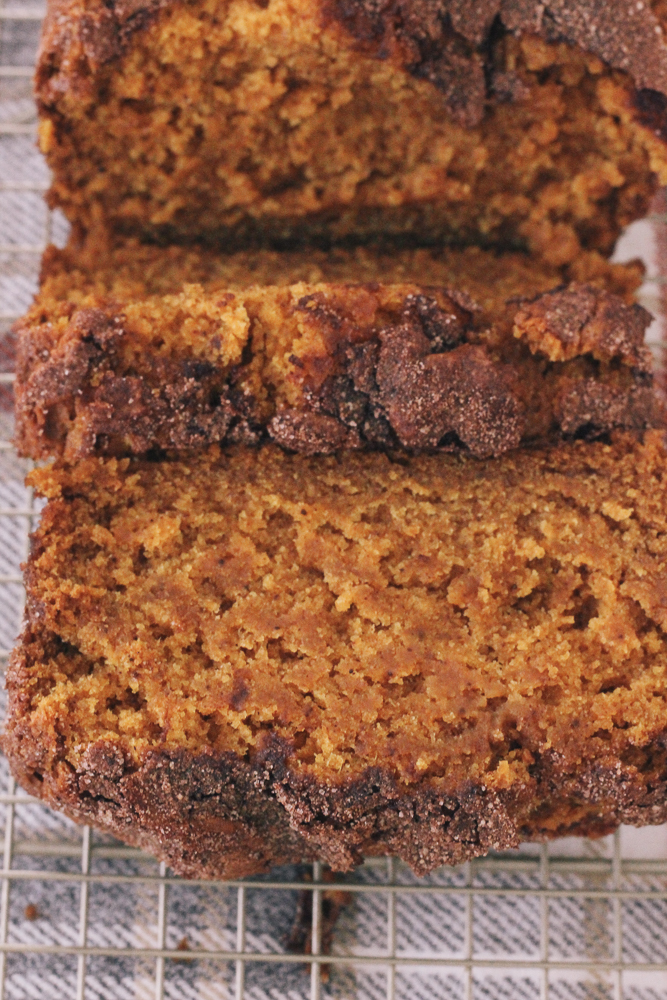 Boston Life & Style Blogger, The Northern Magnolia, is sharing her recipe for delicious cinnamon sugar spiced pumpkin bread.