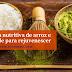 Máscara nutritiva de arroz e chá verde para rejuvenescer