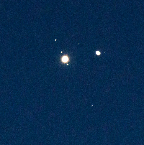 Jupiter-Saturn Dec 21 conjunction with DSLR, 600mm, 1/2 second (Source: Palmia Observatory)